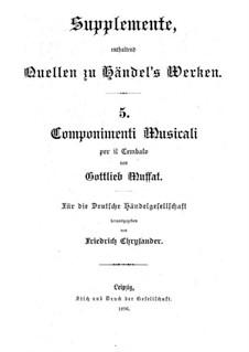 Componimenti Musicali per il Cembalo: Componimenti Musicali per il Cembalo by Gottlieb Muffat
