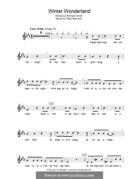 Winter Wonderland: For recorder by Felix Bernard