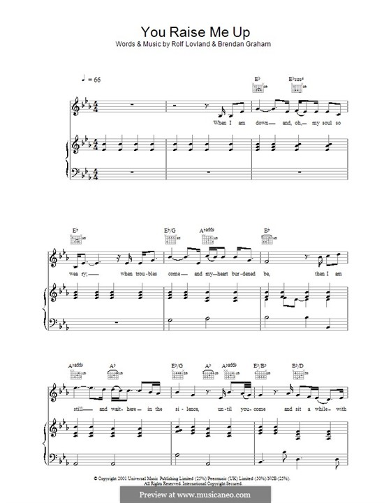 You Raise Me Up: For voice and piano (or guitar) by Brendan Graham, Rolf Løvland