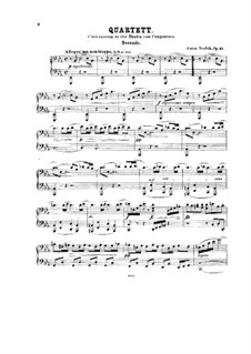 String Quartet No.10 in E Flat Major 'Slavonic', B.92 Op.51: Version for piano four hands by Antonín Dvořák