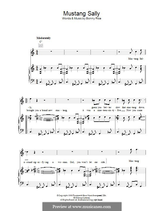 Bwk mustang sally sheet music for trumpet download free in pdf or midi.