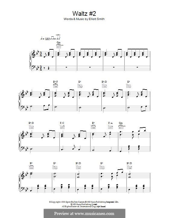 Waltz No2 Xo By E Smith Sheet Music On Musicaneo