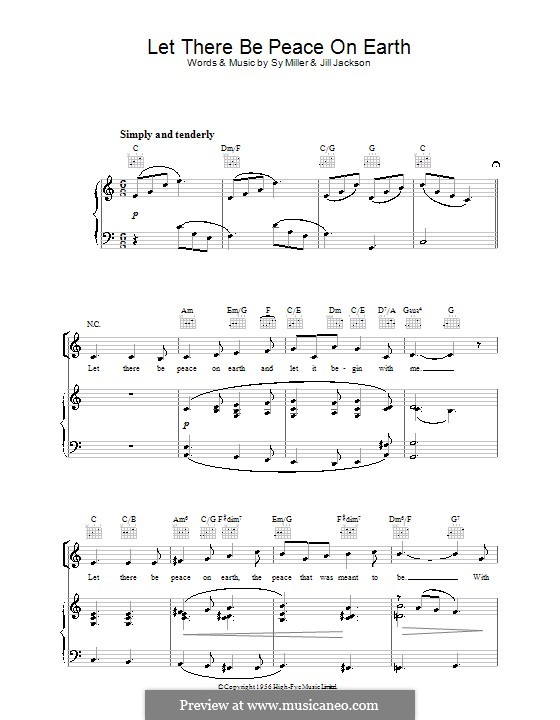 let there be peace on earth sheet music - Anta.expocoaching.co
