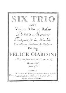 Six String Trios, Op.13: Six String Trios by Felice Giardini