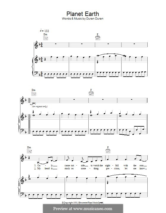 Planet Earth: For voice and piano (or guitar) by Duran Duran