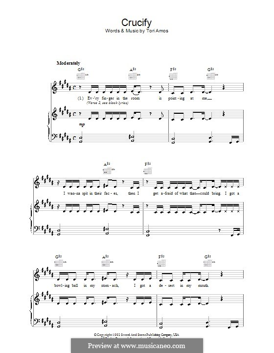 Crucify: For voice and piano (or guitar) by Tori Amos