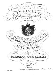 Rossiniana No.1, Op.119: Rossiniana No.1 by Mauro Giuliani
