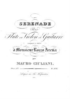 Serenade for Flute (or Violin) and Guitar, Op.127: Serenade for Flute (or Violin) and Guitar by Mauro Giuliani