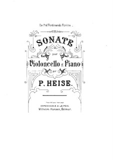 Sonata for Cello and Piano: Sonata for Cello and Piano by Peter Heise