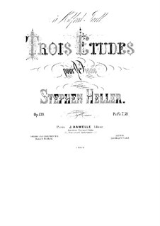 Three Etudes, Op.139: Three Etudes by Stephen Heller
