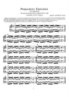 Preparatory Exercises, Op.16: Preparatory Exercises by Georg Aloys Schmitt
