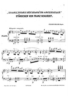 Serenade 'Horch, horch die Lerch im Ätherblau', D.889: For piano by Franz Schubert