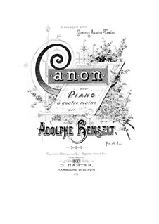 Canon for Piano Four Hands: Canon for Piano Four Hands by Adolf von Henselt