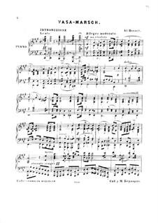 Vasa-Marsch: For piano by Adolf von Henselt