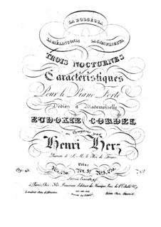 Three Characteristic Nocturnes, Op.45: For piano by Henri Herz