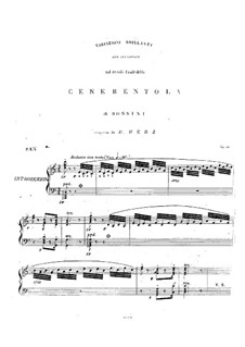 Variations Brilliantes on Themes from 'Cinderella' by Rossini, Op.60: For piano by Henri Herz