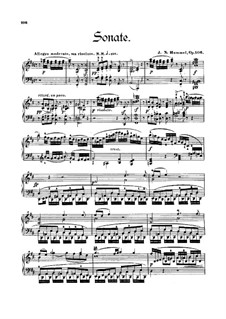 Sonata for Piano No.6 in D Major, Op.106: Sonata for Piano No.6 in D Major by Johann Nepomuk Hummel