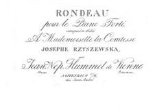 Rondo in E Flat Major, Op.11: For piano by Johann Nepomuk Hummel