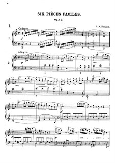 Six Easy Pieces, Op.42: Six Easy Pieces by Johann Nepomuk Hummel