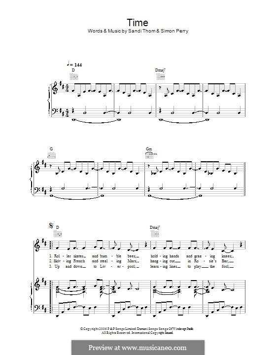 Time: For voice and piano (or guitar) by Simon Perry