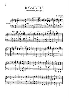 Rodrigo, HWV 5: Gavotte, for Piano by Georg Friedrich Händel