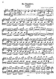 Bayadere, Op.351: Bayadere by Johann Strauss (Sohn)