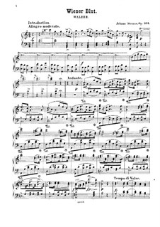 Viennese Blood, Op.354: For piano by Johann Strauss (Sohn)