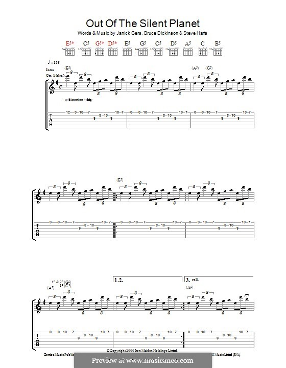 Out of the Silent Planet (Iron Maiden): For guitar with tab by Bruce Dickinson, Janick Gers, Steve Harris