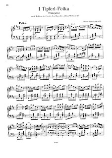 Dotlet on the 'I', Op.377: For piano by Johann Strauss (Sohn)