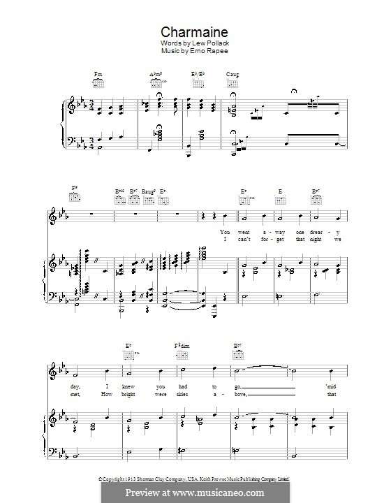Charmaine: For voice and piano (or guitar) by Erno Rapee