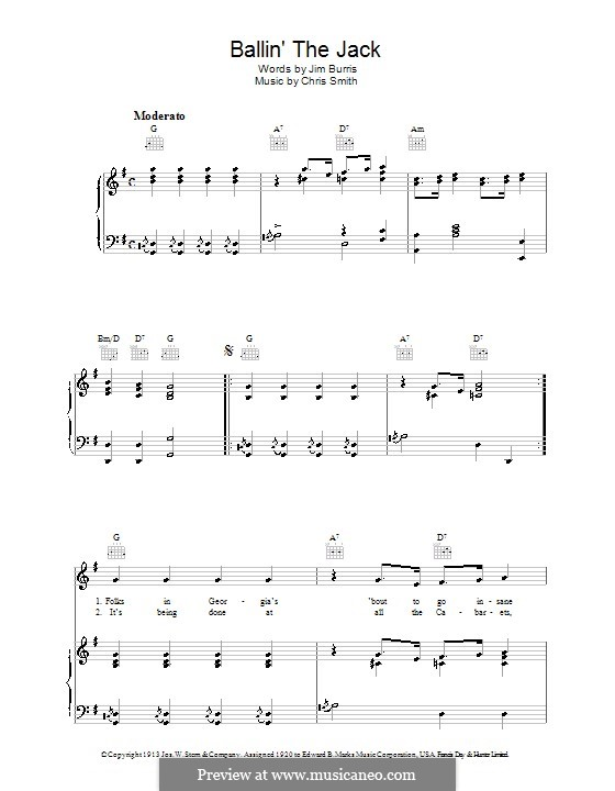 Ballin' the Jack: For voice and piano (or guitar) by Chris Smith