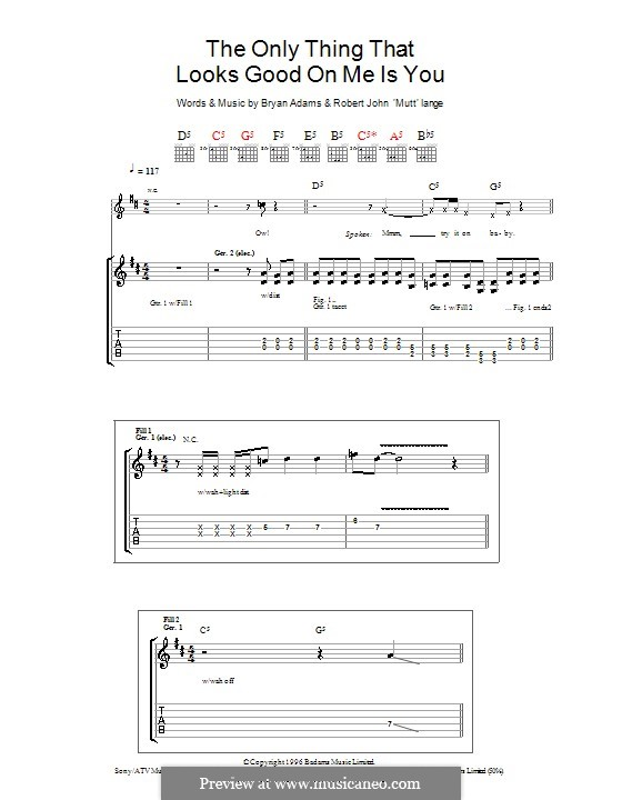The Only Thing That Looks Good on Me Is You: For guitar with tab by Robert John Lange