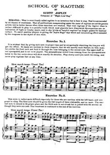 School of Ragtime: School of Ragtime by Scott Joplin