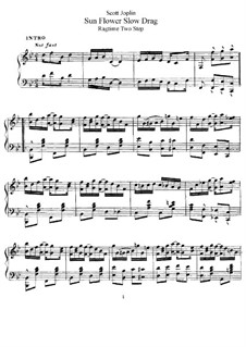 Sunflower Slow Drag. Ragtime: For piano by Scott Joplin, Scott Hayden