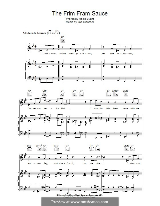 The Frim Fram Sauce: For voice and piano (or guitar) by Joe Ricardel