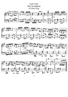 The Sycamore: For piano by Scott Joplin