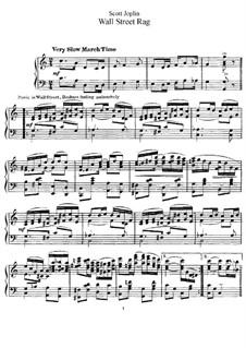 Wall Street Rag: For piano by Scott Joplin