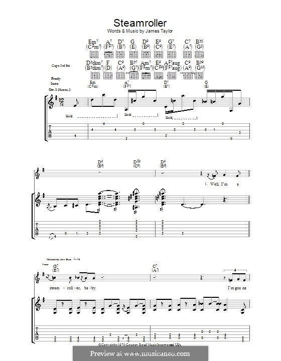 Steam Roller: For guitar with tab by James Taylor