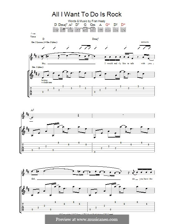 All I Want to do Is Rock (Travis): For guitar with tab by Fran Healy