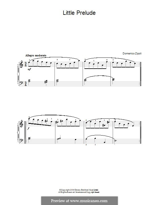 Little Prelude: Little Prelude by Domenico Zipoli