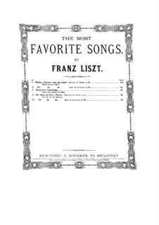 Wanderer's Night Song, S.306: Piano-vocal score by Franz Liszt
