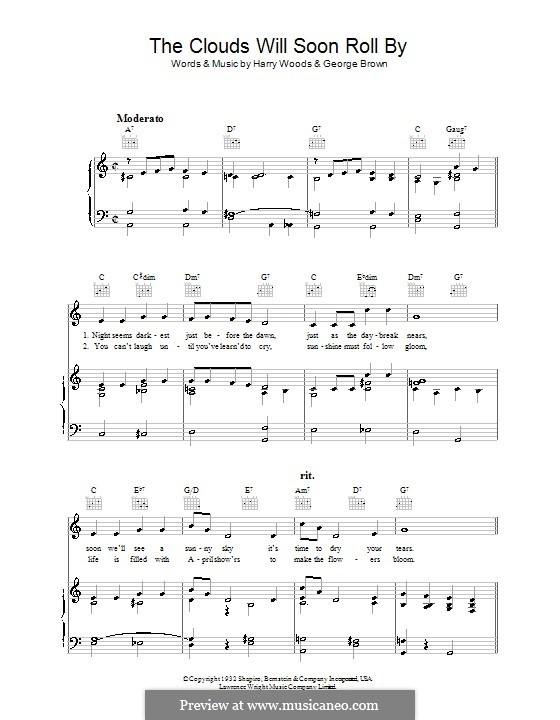 The Clouds Will Soon Roll By: For voice and piano (or guitar) by George Brown