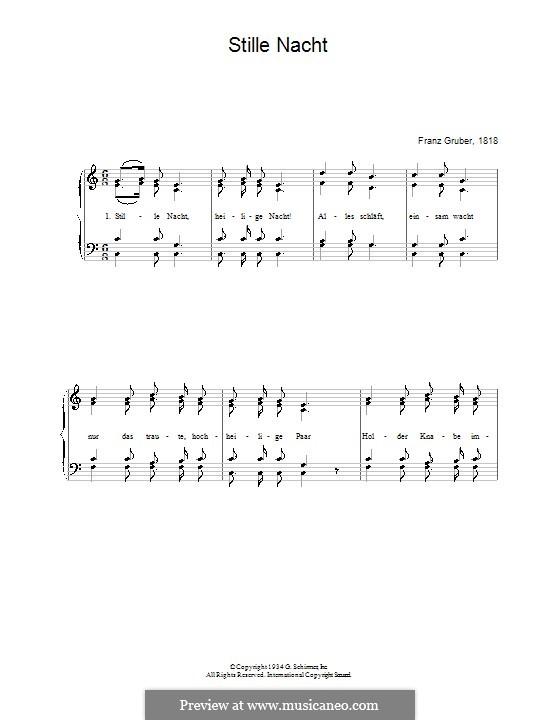 Stille Nacht: Für Stimme und Klavier by folklore