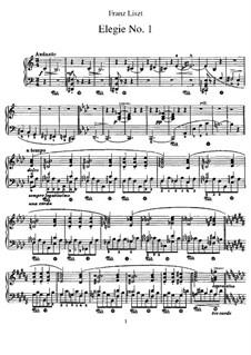 Elegy No.1, S.196: For piano by Franz Liszt