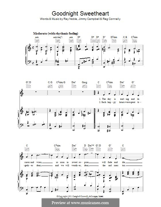 Good Night Sweetheart by J. Campbell, R. Noble, R. Connelly on MusicaNeo