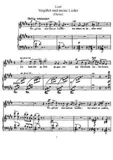 Vergiftet sind meine Lieder, S.289: Klavierauszug mit Singstimmen by Franz Liszt