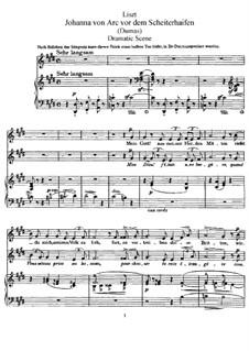 Jeanne d'Arc au bûcher, S.293: Jeanne d'Arc au bûcher by Franz Liszt