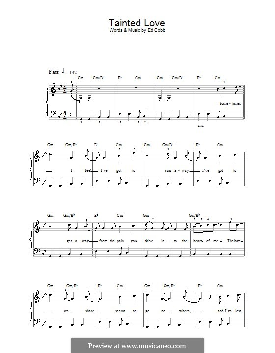 Tainted Love (Marc Almond & Soft Cell): For easy piano by Ed Cobb