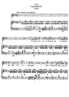 Jugendglück, S.323: Jugendglück by Franz Liszt