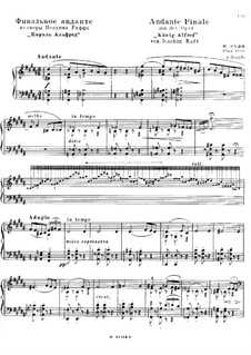 King Alfred, WoO.14: Andante Finale and March for piano by Joseph Joachim Raff